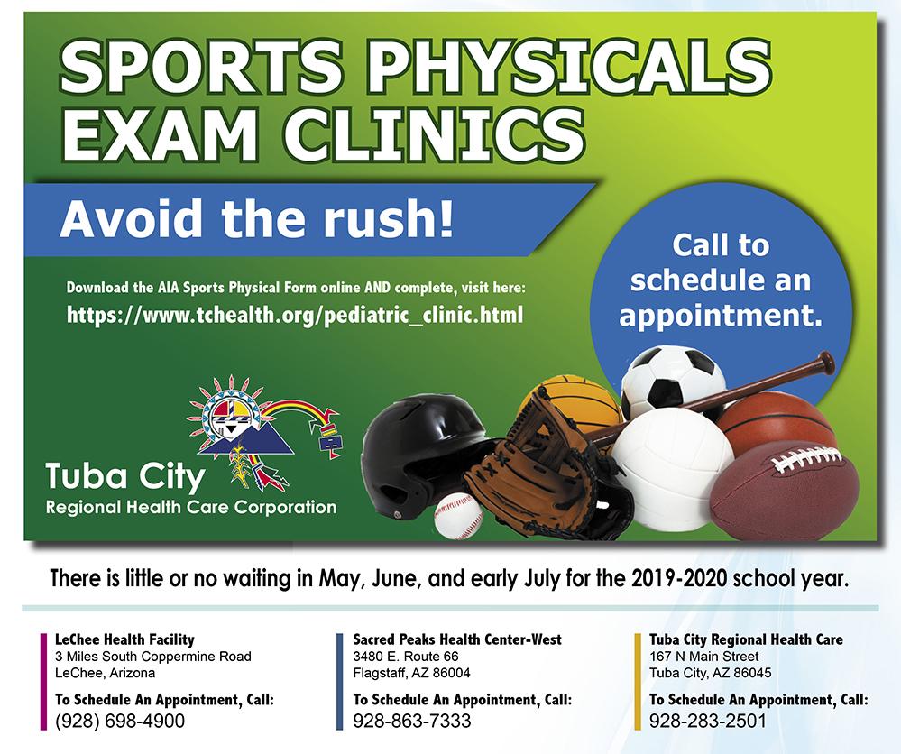 sports physical form 2019 arizona  TCRHCC: Pedicatric Clinic